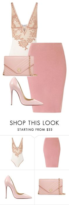 """""""Untitled #50"""" by toniannfratianni on Polyvore featuring La Perla, Glamorous, Christian Louboutin, Tory Burch, women's clothing, women's fashion, women, female, woman and misses"""