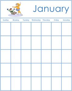 Free Preschool Activities  Event Calendar Template  Google