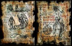 Cthulhu enfants des Fragments ver Necronomicon