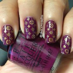 Louis Vuitton inspired nails