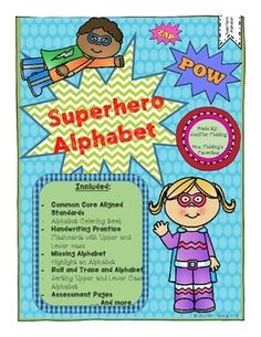 Zoom into the school year with a fun and exciting way to introduce the alphabet. Superhero alphabet is an introduction to the the alphabet and also focus on the difference between upper and lowercase letters which is a kindergarten standard. There are 97 pages full of whole group and small group activities.This kit includes:*Alphabet Coloring book* Handwriting Practice*Flashcards* Missing letter activities*Highlight, Read, Graph Letters* Roll,Read, Trace, Color *Letter Sorts* Alphabet board