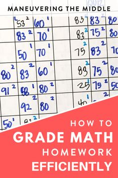 Grading math homework doesn't have to be a hassle. Read how to grade and organize it efficiently with a homework agenda. Back To School Activities, Math Activities, School Ideas, Common Core Math Standards, Maths Algebra, 7th Grade Math, Middle School Teachers, Teacher Organization, Math Teacher