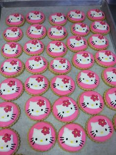 Hello Kitty sugar cookies by TiffanysSweetSpot on Etsy, $33.00