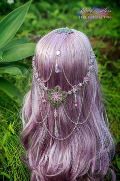 Amethyst Waterlily Princess Circlet  LAYBY by BlingGoddessBoutique, $46.33