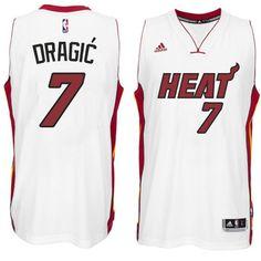Zoran Dragic Miami Heat New Swingman Home White Jersey. Basketball Jersey fd348fd363b0