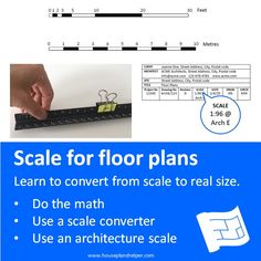 Click through to www.houseplanshelper.com for more on how to read scales, how to read house plans and more on home design. Floor Plan Symbols, Title Block, Free Floor Plans, Study Site, Architectural Scale, Contour Line, House Plans And More, Roof Lines