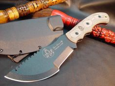 "The Tom Brown Tracker from TOPS Knives...Featured in the Tommy Lee Jones movie ""The Hunted."""