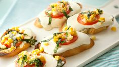 Italian Sweet Corn Bruschetta is a savory appetizer perfect to add to ...