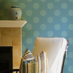 Paint your walls with cute polka dots and circle shapes - Royal Design Studio wall stencils