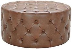 Regatta Cognac Bonded Leather 36-Inch-W Ottoman $399.99