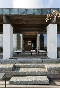 house of poul kjærholm and hanne kjærholm in rungsted, denmark, in 1962, she made the house and he made all the furniture for the interior