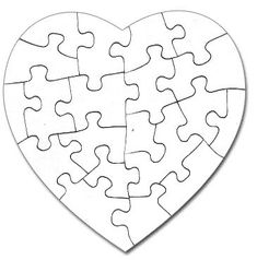 Gallery For > Heart Puzzle Pieces Template Silhouette - - jpeg Puzzle Piece Crafts, Puzzle Pieces, Diy And Crafts, Crafts For Kids, Paper Crafts, Puzzle Piece Template, Printable Puzzles, Wooden Puzzles, Wooden Toys