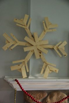 These DIY wood snowflakes were made from scraps of wood! Such a great Christmas decor project! The tutorial really makes it possible for anyone to make these!