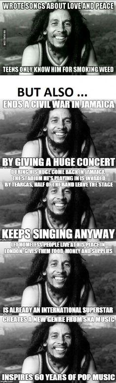 So I saw a post about Bob Marley