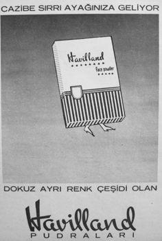 OĞUZ TOPOĞLU : havilland pudra 1957 nostaljik eski reklamlar