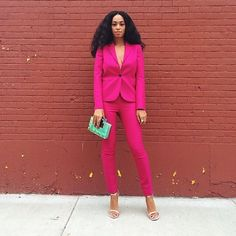 """Solange Knowles on Instagram: """"Can she be any more amazing? @saintrecords #solange #solangeknowles #fashion #style #pink #beauty #naturalhair #love #music #flyy #beyonce"""""""