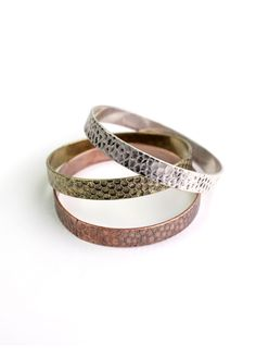 Honeycomb Bracelet. I just love dusty colors and metallics. This is BOTH.