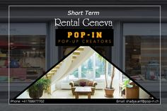 Do you want to launch a Pop-up Store in Geneva? Pop-In is a platform that makes it easier for you to find and book a pop-up space. Visit our website and choose a short-term rental in Geneva. Geneva, Pop Up, Platform, Website, Space, City, Book, Floor Space, Popup