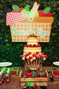 Piquenique é inspiração para festa de aniversário de criança de dois anos