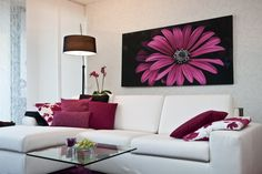 think pink ! Sofa, Couch, Tapestry, Pink, Inspiration, Living Rooms, Furniture, Design, Home Decor