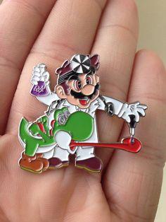 Bad Yoshi Heady Hat Pin
