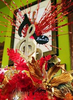 2015 Christmas Tree Topper, Colorful Christmas Tree Topper for 2015, musical notation Christmas Tree ornaments - LoveItSoMuch.com