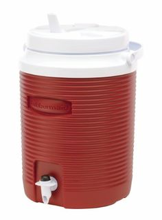 Rubbermaid Victory Jug Water Cooler Modern Red 2gallon FG153004MODRD