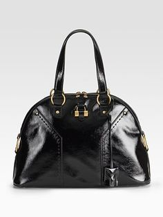 YSL Patent Leather Muse Bag-love zipper bags, especially in patent leather!