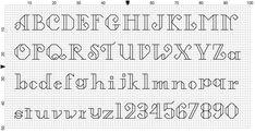 cross stitch font - Buscar con Google