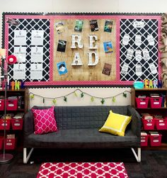 Get ready to READ! One week until I will have some sweet 6th graders reading in here! What does your reading area look like in your classroom? #reading #ELA #iteach6th #teacherthings #readingcorner #readingnook #ikea #target #worldmarket #cactus #read #books #readingiscool #sweetin6th