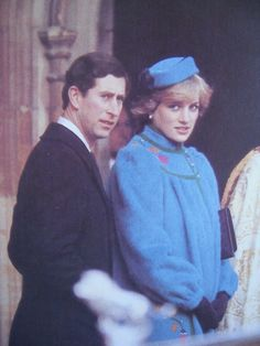 December 25, 1981: Prince Charles & Princess Diana with the Royal family leaving St Georges Chapel after morning service.