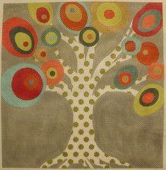 Machelle Somerville # MS15 tree needlepoint canvas