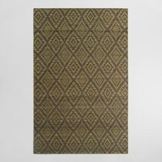 One of my favorite discoveries at WorldMarket.com: 5'x8' Yellow and Gray Diamond Flatweave Wool Galen Area Rug