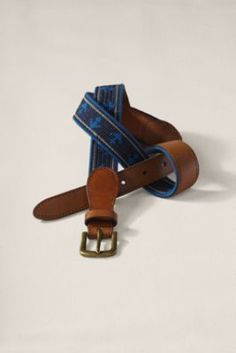 I love the nautical pattern on this belt.  It would look great with brightly colored chinos; I just wonder if I could take it a step further and pull it off with a pair of embroidered critter pants.  Men's Needlepoint Belt  from Lands' End Canvas #landsendcanvas