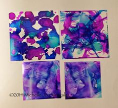 3 different ways to use alcohol inks with transparencies.  Check out my video!  Enjoy!