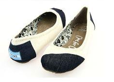 Toms Womens Dancing Flat Shoes Apricot Blue