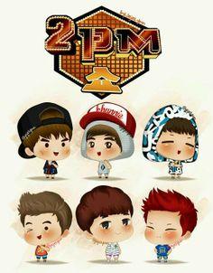 2PM Show Chibi ^^ Taecyeon Nichkhun JunK Wooyoung Chansung Junho
