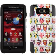 AmazonSmile: Trek Hybrid Stand Case Owls on a Line for Motorola Droid Mini: Cell Phones & Accessories