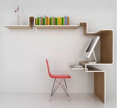 k workstation - This clever carrel known as the 'K Workstation' was created by Miso Soup Design as an effective solution to space-constrained studies. Ma...