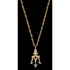 14k Yellow Gold Small Trident of Poseidon Pendant (Optional Chain) ($599) ❤ liked on Polyvore featuring jewelry, pendants, pendant jewelry, 14k jewelry, gold pendant, 14 karat gold jewelry and yellow gold pendant