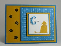 C is for Cat by Stamp Addict 77 - Cards and Paper Crafts at Splitcoaststampers