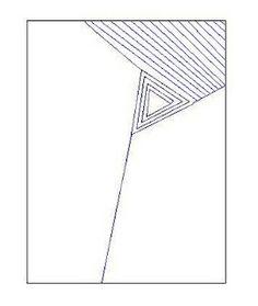 triangle as inspiration sashiko pattern