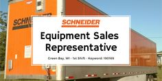 Schneider is hiring an Equipment Sales Representative for our Maintenance division in Green Bay! Mechanic Jobs, We Are Hiring, Sales Representative, Job Description, A Team, Office Jobs, Dallas, Knowledge, How To Apply