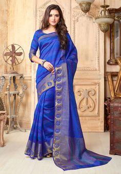 #Saree in Blue