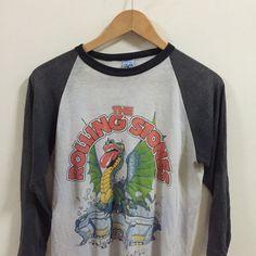 1981 True Vtg Rolling Stones Tour Concert T Shirt Jersey Dragon Size XL  | eBay