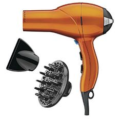 Infiniti Pro by Conair 1875 Watt Salon Performance AC Motor Styling Tool / Hair Dryer; Orange (packaging may vary) Babyliss Hair Dryer, Hair Dryer Brands, Best Hair Dryer, Wand Curls, Good Hair Day, Smooth Hair, Dry Shampoo, Styling Tools, Hair Tools