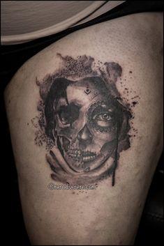 #tattoo #portrait #catrina #skull #girl #selfie #tattooist #illustration #artwork #sketch #ink #artist #watercolor #trashpolka #tattooidea #drawing #inkmaster #tattooartist