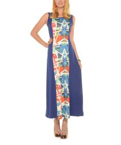 Another great find on #zulily! Blue Geometric Maxi Dress - Plus #zulilyfinds
