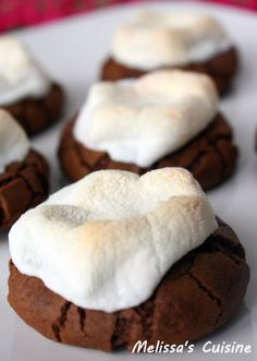 Melissa's Cuisine: Hot Chocolate Cookies ---sub non-dairy butter, favorite egg replacer, and Dandies marshmallows, to make these delicious cookies #vegan