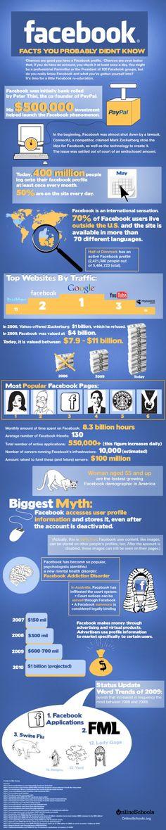 궁극적인 목록 : 100 + 페이 스북 통계 [Infographics]